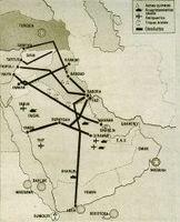 Mapa de la guerra del Golfo.