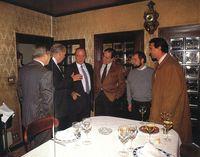 De izquierda a derecha: Juan Pablo de Villanueva, Antonio Fontán, Manuel Fraga y Miguel Ángel Gozalo.