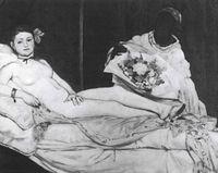 Édousrd Manet, Olympia, 1836.&lt;br /&gt;<br /> Musée d&amp;#039;Qrsay. París.