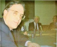 Miguel Angel Gozalo durante una de las entrevistas con Gorbachov.