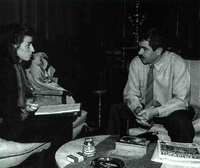 Pasqual Maragall e Isabel Martínez Cubells en el curso de la entrevista.