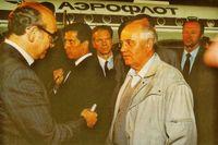 Fracasado el golpe de Estado, Gorbachov vuelve a Moscú.