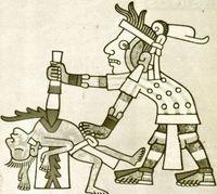 Sacrificios humanos entre los aztecas.