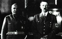 Mussolini y Hitler: dos grandes manipuladores.