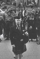 Músico escocés en las calles de Nueva York