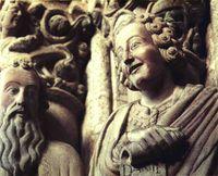 Jeremías y Daniel. Pórtico de la Gloria de la catedral de Santiago.