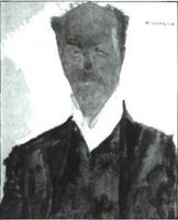 Retrato de Otto Wagner, por Egan Schiele.