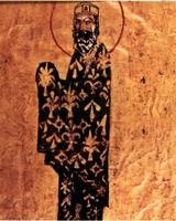 Alejo I Commeno, según una miniatura de un manuscrito griego conservado en la biblioteca Vaticana.