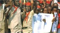 Gran recibimiento a su llegada a Burundi.