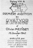 Portada original del Cuarteto para el fin de los tiempos 1941.