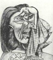 Pablo Picasso, La mujer que llora (1937).