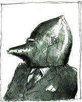El reaccionario. Ilustración de Diego Mora-Figueroa.