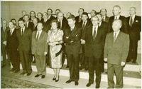 Los participantes en la cumbre de Maastricht con la Reina Beatriz de Holanda.