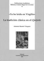 """Portada del libro """"La tradición clásica en el Quijote""""."""