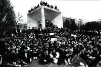 Manifestación pacifista en Madrid.