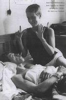 Jean-Paul Belmondo y Jean Seberg en About de souffle (1959). de Jean-Luc Godard.