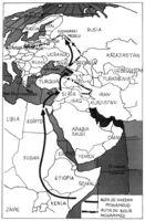 Movimientos de la población musulmana a Europa.
