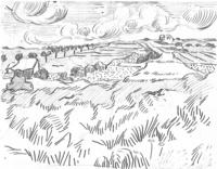 Boceto de Campo de Trigo, 3 de Junio de 1890. En una carta a su hermano Theo.