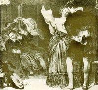 Representación de El Barbero de Sevilla. Covent Garden Londres, 1818.