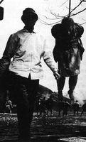 Durante el rodaje de El mercenario, 1961.