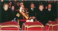 Don Juan de Borbón preside el entierro en El Escorial de los restos de su padre el Rey Don Alfonso XIII.