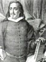 Saavedra Fajardo según un grabado de la Biblioteca Nacional de Madrid.