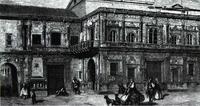 Sevilla, fachada de la Casa Consistorial. Gustavo Dore, hacia 1855.