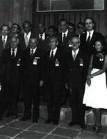 Delegación española en la cumbre de Helsinki (1-8-75).