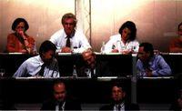 El XXXII  Congreso Federal del PSOE en una de las sesiones de trabajo.