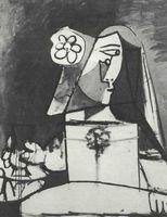 Pablo Picasso, Infanta Margarita Mana (de la serie Las Meninas, según<br /><br /> Velázquez, 1957), óleo sobre lienzo, Barcelona, Museo Picasso.