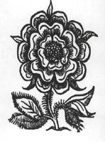 Rosa. Marca francesa del siglo XVI.