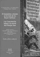 """Portada del libro """"El humanismo cristiano en la Corte de los Reyes Católicos""""."""