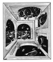 Moris C.Escher. Otro mundo, 1947.