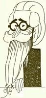 Caricatura de don Ramón del Valle-Inclán, por Sirio.