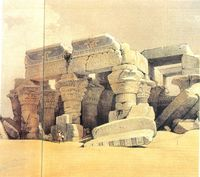 "David Roberts, ""Templo de Kom Ombo"" (1846-1850)."