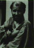 Gustav Klimt. Fotografía de Moriz Nährr 1912-1914.