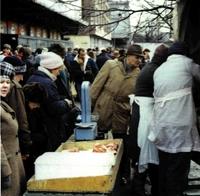 Economía de mercado en la avenida Marszalkowska.