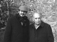 Álvaro Lucas, actual director de Nueva Revista, con Antonio Fontán.
