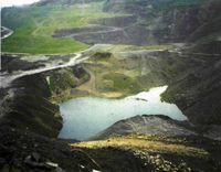 La restauración debe emprenderse lo antes posible, como se ve en esta explotación minera a cielo abierto.