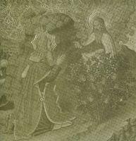 El Señor habla a Moisés. Episodio de la zarza ardiente. Jaume Huguet.