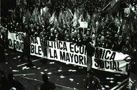 Manifestación sindical en Madrid (14-XII-88) con motivo de la huelga general.