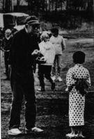 Durante el rodaje de Rapsodia en Agosto, 1991.