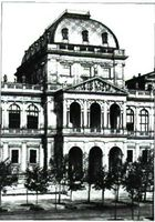 Universidad de Viena 1873-74. Fachada principal.