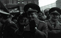 Manifestación de militares conservadores en Moscú.