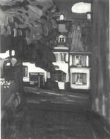 W. Kandinsky, Murnau - Casas en el Obermarkt (1908) [Catálogo de la exposición. n° 6].