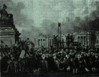 Revolución Francesa. Ejecución de Luis XVI.