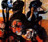 """""""En la modista"""", Pierre Auguste Renoir. Colección Thyssen Bornemisza."""