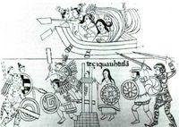 Fragmento del lienzo mexicano de Tlaxcala.