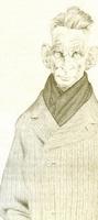 Samuel Beckett, por Tullio Pericoli (del libro Woody, Freud y otros, Ed. Lumen).