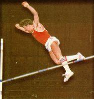 El ruso Sergei Bubka en uno de sus saltos con pértiga. Seúl, 1988.